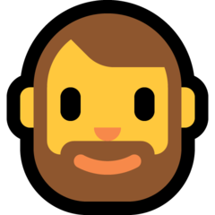 How Man: Beard emoji looks on Microsoft.