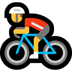 How Man Biking emoji looks on Microsoft.