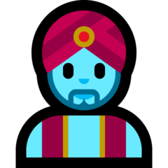 How Man Genie emoji looks on Microsoft.