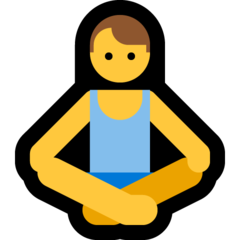How Man in Lotus Position emoji looks on Microsoft.