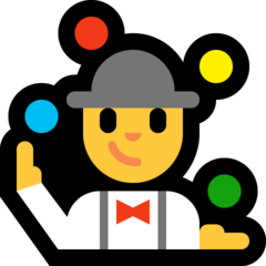 How Man Juggling emoji looks on Microsoft.