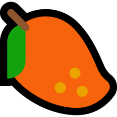 How Mango emoji looks on Microsoft.