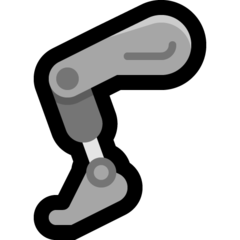 How Mechanical Leg emoji looks on Microsoft.
