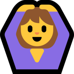 How Person Gesturing Ok emoji looks on Microsoft.