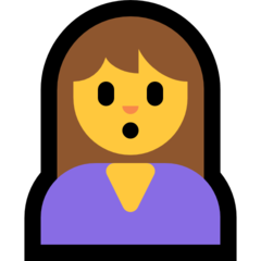 How Person Pouting emoji looks on Microsoft.