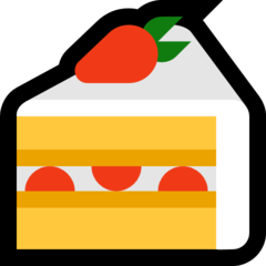 How Shortcake emoji looks on Microsoft.