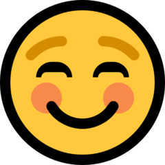 How Smiling Face emoji looks on Microsoft.