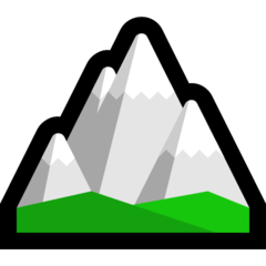 How Snow-Capped Mountain emoji looks on Microsoft.