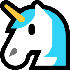 How Unicorn emoji looks on Microsoft.