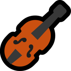How Violin emoji looks on Microsoft.