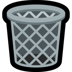 How Wastebasket emoji looks on Microsoft.