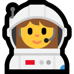 How Woman Astronaut emoji looks on Microsoft.