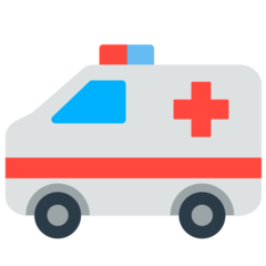 How Ambulance emoji looks on Mozilla.