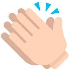 How Clapping Hands emoji looks on Mozilla.
