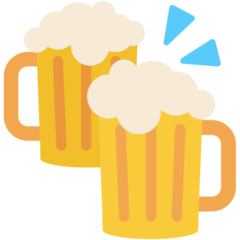 How Clinking Beer Mugs emoji looks on Mozilla.