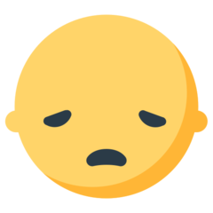 How Disappointed Face emoji looks on Mozilla.