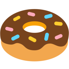 How Doughnut emoji looks on Mozilla.
