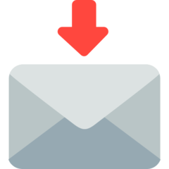 How Envelope with Arrow emoji looks on Mozilla.