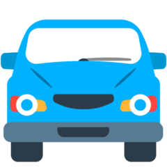 How Oncoming Automobile emoji looks on Mozilla.
