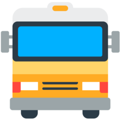 How Oncoming Bus emoji looks on Mozilla.