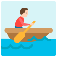 How Person Rowing Boat emoji looks on Mozilla.