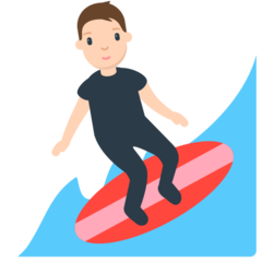 How Person Surfing emoji looks on Mozilla.