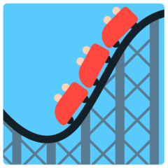 How Roller Coaster emoji looks on Mozilla.