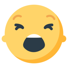 How Tired Face emoji looks on Mozilla.