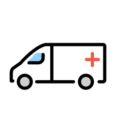 How Ambulance emoji looks on Openmoji.