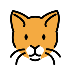 How Cat Face emoji looks on Openmoji.