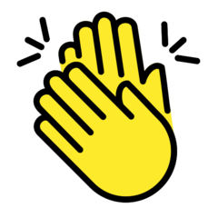 How Clapping Hands emoji looks on Openmoji.