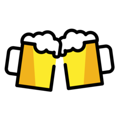 How Clinking Beer Mugs emoji looks on Openmoji.