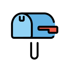How Closed Mailbox with Lowered Flag emoji looks on Openmoji.