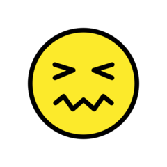 How Confounded Face emoji looks on Openmoji.