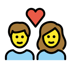How Couple with Heart: Woman, Man emoji looks on Openmoji.