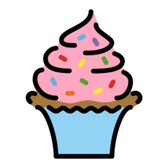 How Cupcake emoji looks on Openmoji.