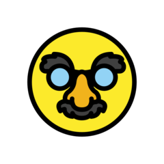 How Disguised Face emoji looks on Openmoji.