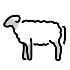 How Ewe emoji looks on Openmoji.