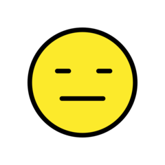 How Expressionless Face emoji looks on Openmoji.
