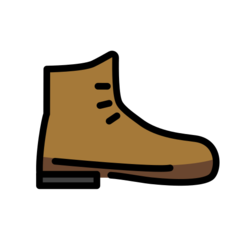 How Hiking Boot emoji looks on Openmoji.