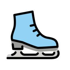 How Ice Skate emoji looks on Openmoji.