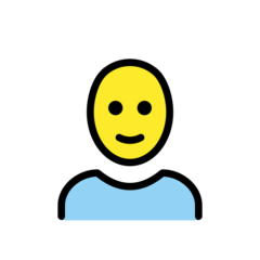How Man: Bald emoji looks on Openmoji.