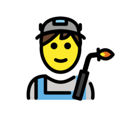 How Man Factory Worker emoji looks on Openmoji.