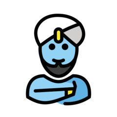 How Man Genie emoji looks on Openmoji.