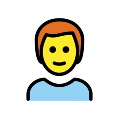 How Man: Red Hair emoji looks on Openmoji.
