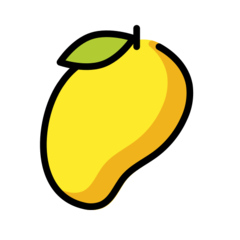 How Mango emoji looks on Openmoji.