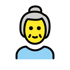 How Old Woman emoji looks on Openmoji.