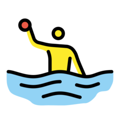 How Person Playing Water Polo emoji looks on Openmoji.