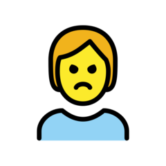 How Person Pouting emoji looks on Openmoji.
