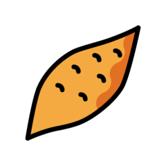 How Roasted Sweet Potato emoji looks on Openmoji.